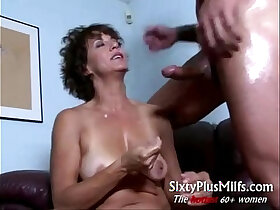 granny porn - Horny mature housewife spooned