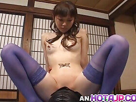 face fuck porn - Tomoka Matsunami in lingerie rides masked man face covered with big pussy