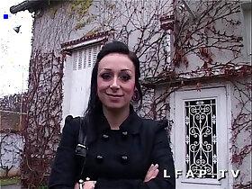 casting porn - Jolie emo girl francaise bien demontee pour son casting