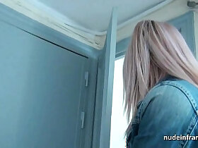 amateur porn - Pretty teen blonde ass pounded and jizzed on tits in POV