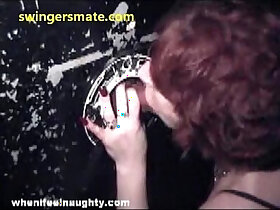 gloryhole porn - husband wife on gloryhole sucking stranger