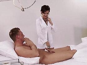 brunette porn - German, nurse, uniform, hospital, big natural tits, brunette, high heels, big co