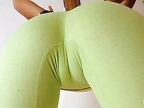 ass porn - Perfect Round Ass in Ultra Tight Yoga Pants! Cameltoe n Tits
