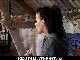 boss porn - Lady boss and lady maid CatFight