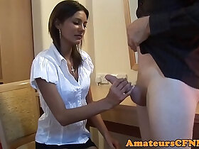 amateur porn - CFNM amateur cocksucking firsttime on camera