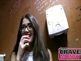 money porn - Nerdy Teen Sucked Me Off In A Public Restroom For Money pornvideo.rodeo