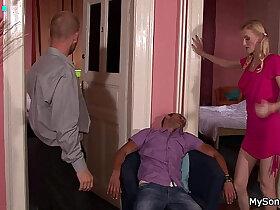 blonde porn - Blonde webcam girl caught with older man