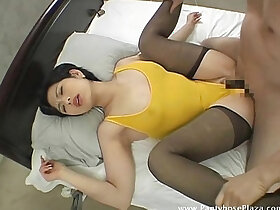 mistress porn - Mistress in leotard and pantyhose moans as she