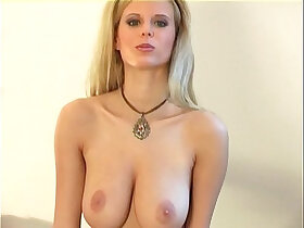 blonde porn - Hot blonde lingerie tease in seamed stockings