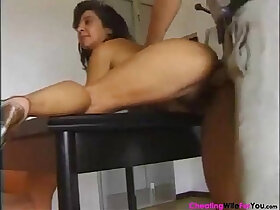 hairy porn - Italian hairy mature gets pussy Filled