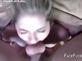 compilation porn - Deepthroat cum in mouth compilation oral creampie facefuck