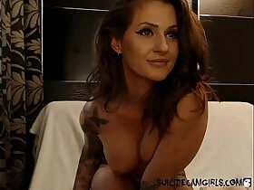 mom porn - Inked step mom using lotion and playing with herself on cam