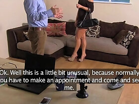 anal porn - FakeAgentUK Anal casting for smoking hot hungarian girl