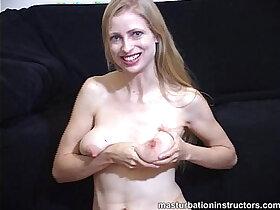 ass porn - Naked jerk off teacher teases using her tits and ass