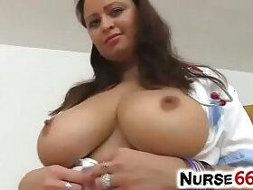 girl porn - Natural girl undressing her nurse uniform