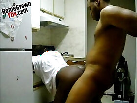 ass porn - Chocolate ass backshots in the kitchen pornvideo.rodeo Ebony Homemade