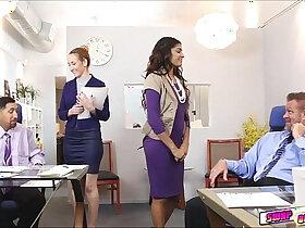 boss porn - Gigi and Katalina give good massage on their boss