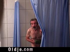 blonde porn - Stunning Blonde Fucking Wrinkled Old Man