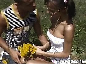 fun porn - Slutty Stepsister Outdoor Fucking Fun