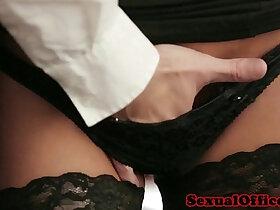 office porn - Office secretary in stockings fucked on desk