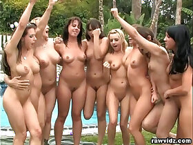 group porn - Group lesbian party outdoors