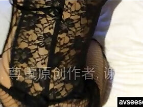 amateur porn - Chinese amateur housewife with hot sexy lingerie taking homemade video