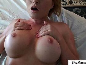 amateur porn - Busty amateur Blonde Bitch Massage.