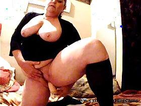 bbw porn - Dildo solo years BBW housewife with big boobs