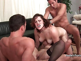 4some porn - FFMM Two hotties hard deep anal double penetration fucking in foursome orgy