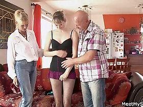 perverts porn - Perverted parents seduces their son